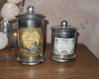 Decorative bottles retro chic spirit
