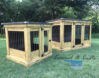 Urban Farmhouse Single Indoor Dog Kennle