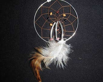 Native American dreamcatcher style adjustable necklace