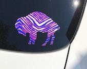 Buffalo NY Standing Bison Car Vinyl Car decals Die Cut phone laptop