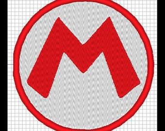 Mario Logo embroidery design