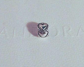 Pandora Everlasting Love Hearts Charm/New/Fully Stamped/Ale/925