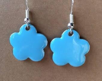 Sequins blue cloud earrings