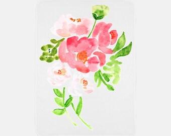 """Floral Soft Fleece Blanket 30"""" x 40"""""""