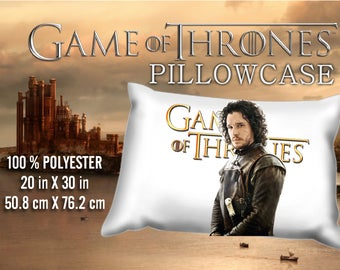 Game of Thrones Jon Snow  Kit Harington Pillowcase