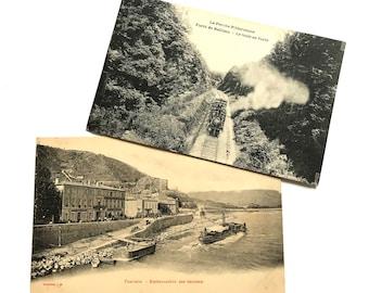 Vintage postcards from France (2 postcards)