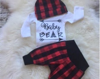 Newborn Boy Coming Home Outfit,newborn boy going home outfit,baby bear,newborn boy deer outfit, baby boy outfit,camo baby outfit