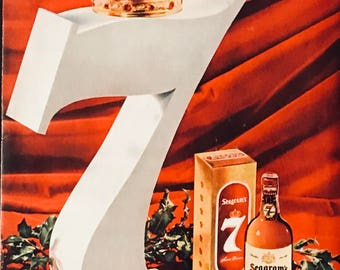 1955 Seagrams Seven Crown Blended Whiskey