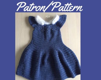 Crochet Pattern: Girls's Princess inspired dress- Elsa