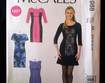 McCall's 6988 - semi-fitted dress pattern