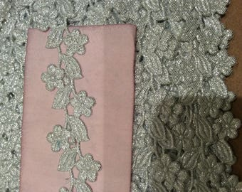 Lace silver liseraie a customize about 2.5 cm width