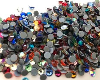 4 mm multicolor Crystal hotfix rhinestones