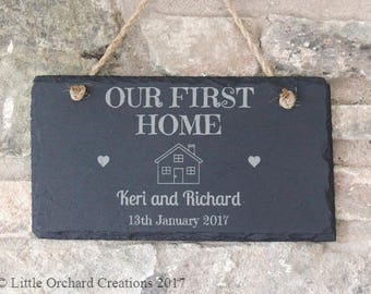Personalised New Home Gift, Personalised New Home Plaque, New Home Gift, House Warming Gift, First Home, Gift for Couple, Our New Home