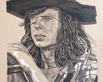 The Walking Dead Original Artwork Carl Grimes Portrait