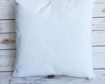 White canvas pillow cover-(set of 15)16x16 square pillow cover-white canvas pillow case-canvas pillow cover-white pillow cover.