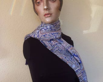 Brightly coloured scarf/stole/wrap in synthetic material