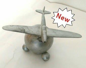 Post World War II Alloy Model of Airplane Lighter Apprentice Piece