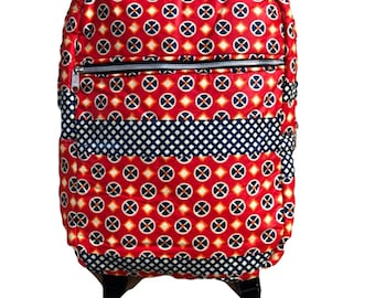 Large African Fabric  Backpack
