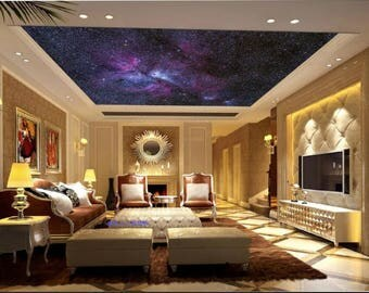Ceiling wallpaper, galaxy ceiling, nebula wall mural, ceiling nebula, ceiling, space star wall mural, peel and stick, nebula wallpaper