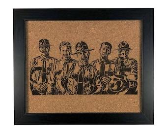 Super Troopers Stencil | Cork Art