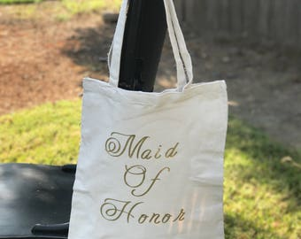 Bride,maid of honor,bridesmaid tote