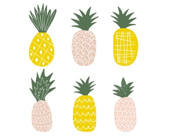Pineapples clipart. Svg. Vector. Eps. Dxf. Png.
