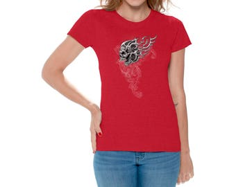 Skull Lure Shirt T shirts Tops for Women Shirts Tees Sugar Skull Shirt Day of Dead Shirt Tshirt