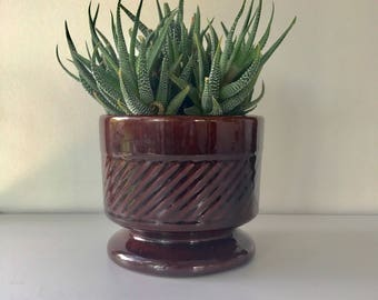 Mid Century Modern Brown Ceramic Planter, Vintage Planter, Ceramic Pottery, Planter, Garden Decor, Succulent Planter, Vintage, Flower Pot