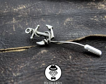 Anchor and Rope Lapel Pin
