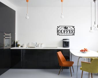 Coffee Tasty & Delicious Kitchen Vinyl Wall Quote
