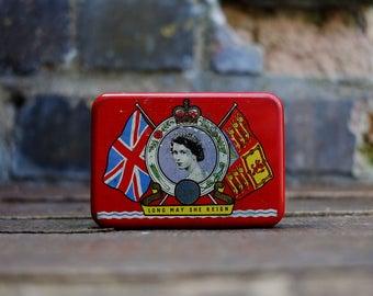 Mid 20th Century OXO Tin - Queen Elizabeth II Coronation - 1953