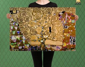 The Tree of Life, Abstract Home Decor,  Frieze, Klimt, Custom Raised Canvas Art Piece
