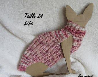 Cotton Baby Sphynx cat sweater