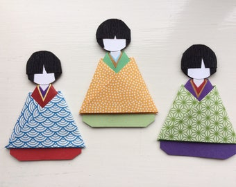 Japanese kimono boy present topper/party favour (pack of 3)