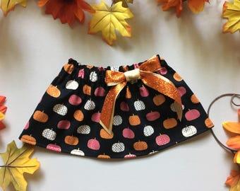 Pumpkin skirt black orange and gold fall skirt Halloween skirt Thanksgiving skirt pumpkin skirt baby skirt girls clothing toddler skirt