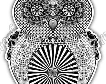Owl Illuminati Freemasonry Masons Masonic Car Bumper Vinyl Sticker Decal