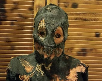 Pumpkin patch scarecrow scary Halloween mask