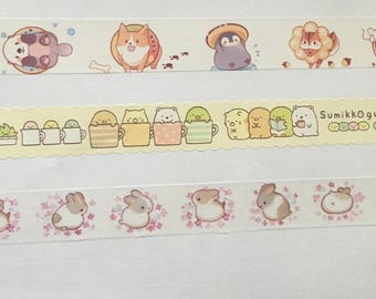 Washi tape sample Animals, Summiko Gurashi, Rabbit