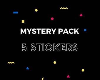 Mystery Packs: 5 Random Stickers