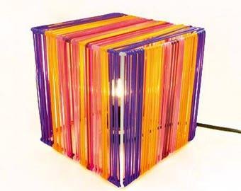 Metalic cube lamp