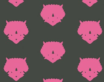 KNIT - Triceratops Pink from Esoterra range by Art Gallery Fabrics 152cm (w) x 25cm