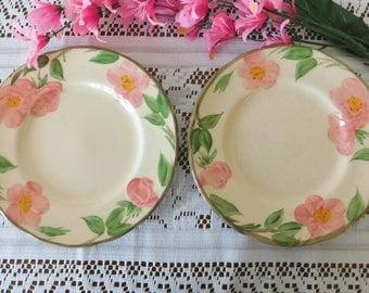FRANCISCAN Desert Rose Salad Plates vintage 1970s SHIPPING INCLUDED