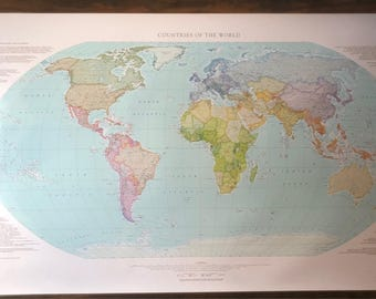 World Map - Countries of the World, Laminated Litho