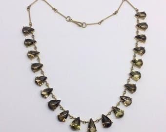 14k Gf smoky quartz necklace #463