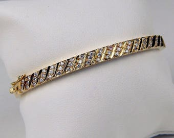 18k Gold 1 Ctw diamond bracelet #10468