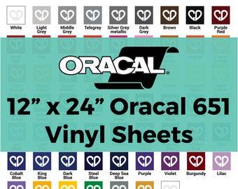 Oracal 651 Vinyl Sheets - 12x24 Sheet, Oracal 651 Sheets, Vinyl Sheets 651, Adhesive Vinyl Sheets, Cricut Vinyl Sheets, Permanent Vinyl
