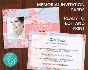 funeral invite templates