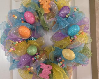 Easter Eggs & Bunny Wreath