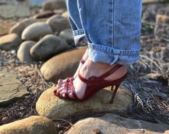 Red Vintage Manolo Blahnik Heels