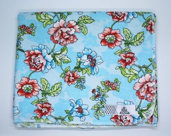 "Large Floral Print Extra Large Receiving Blanket - 36"" x 42"""